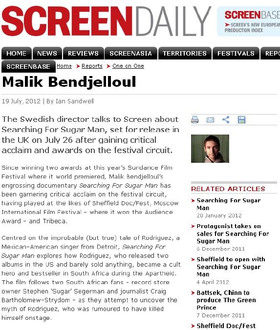 Screen Daily - Malik interview, 19 July