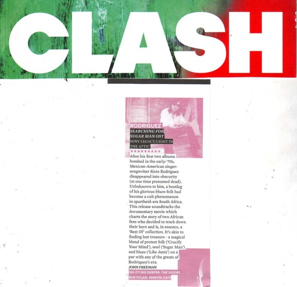 Rodriguez - Clash - Soundtrack Review - September 2012