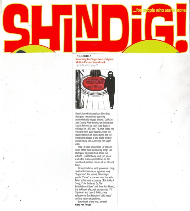Shindig - Album Review - August 2012