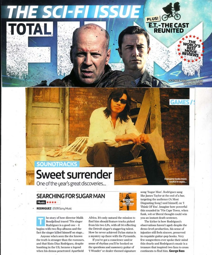 Rodriguez - Total Film - Searching For Sugar Man Soundtrack Review - October 2012