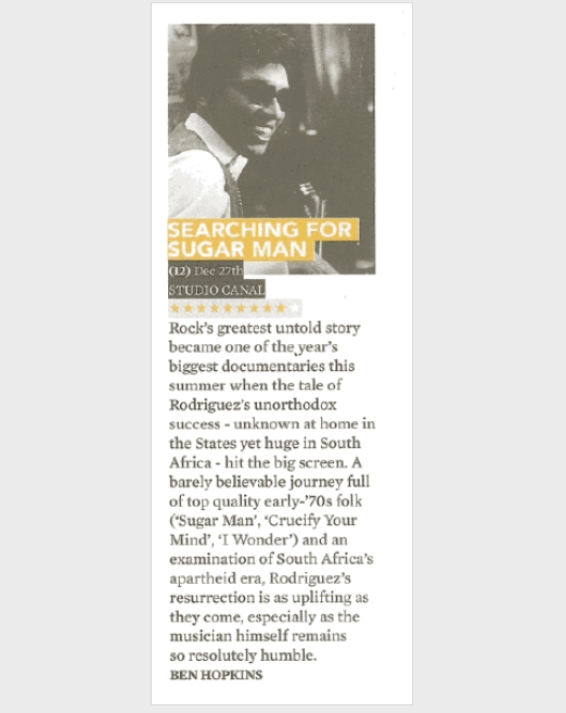 Searching for Sugar Man DVD review | Clash