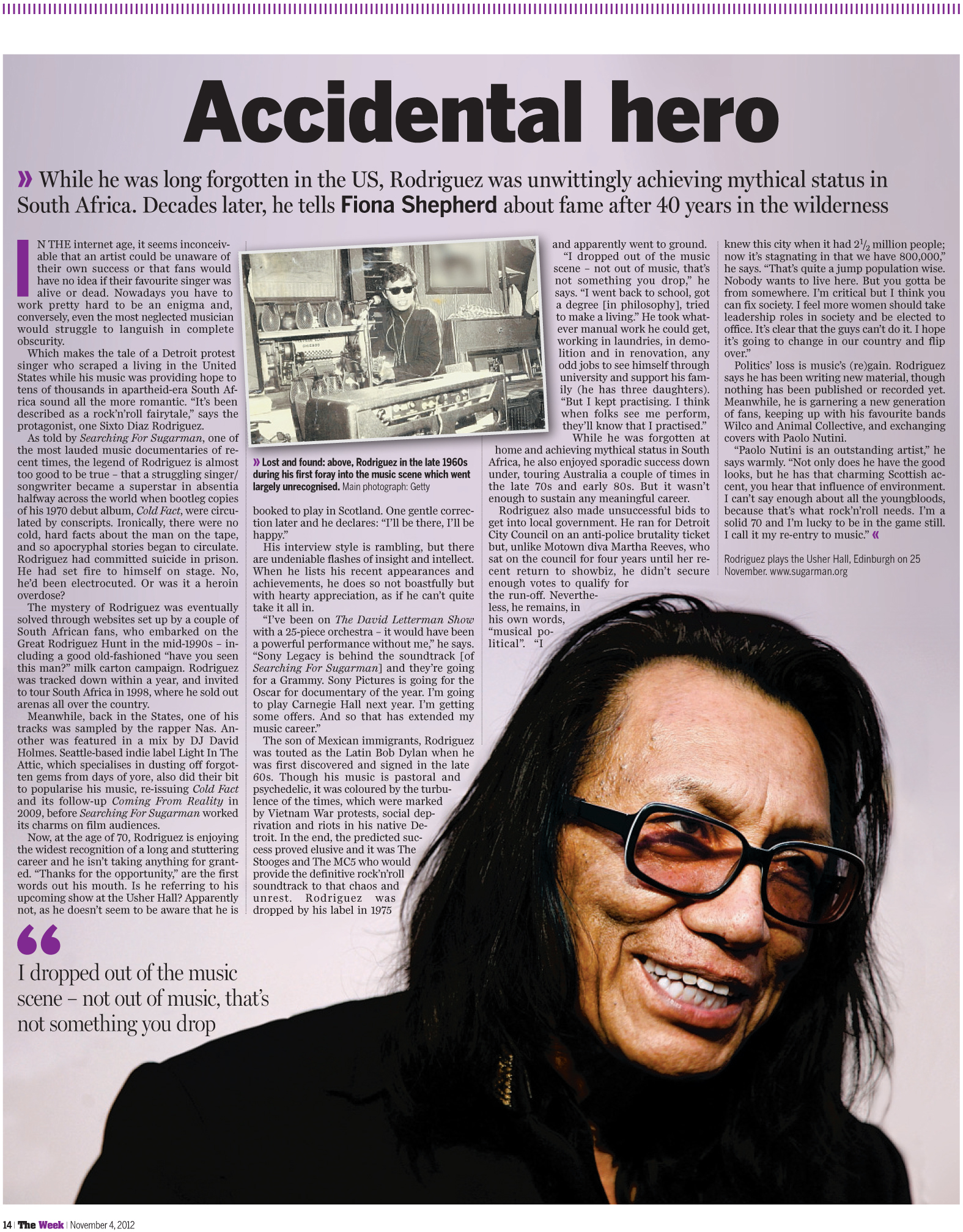 How Rock N Roll Fairytale Led Sixto Diaz Rodriguez To Be One Of