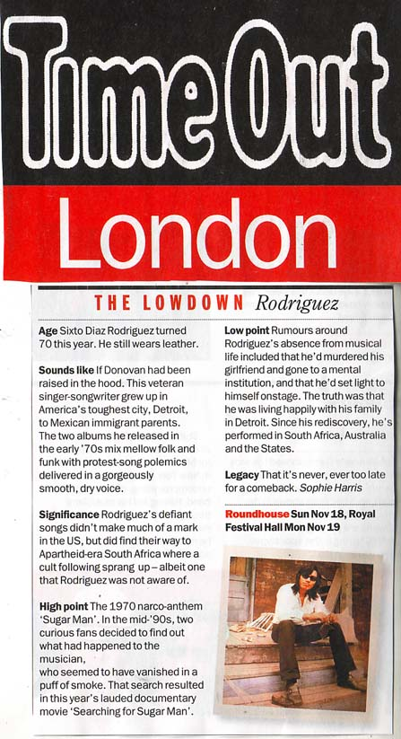 Time Out - The Lowdown - 13 November 2012