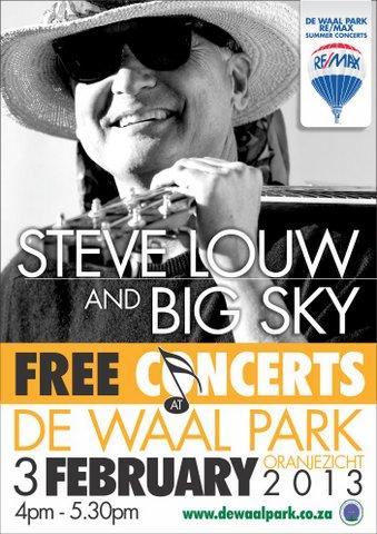 Steve Louw and Big Sky at De Waal Park