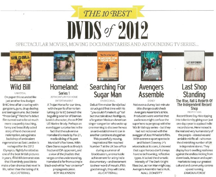 The 10 Best DVDs of 2012 | Q Magazine