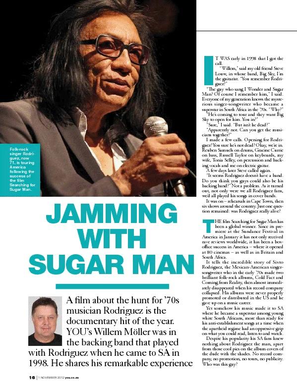 Jamming With Sugar Man