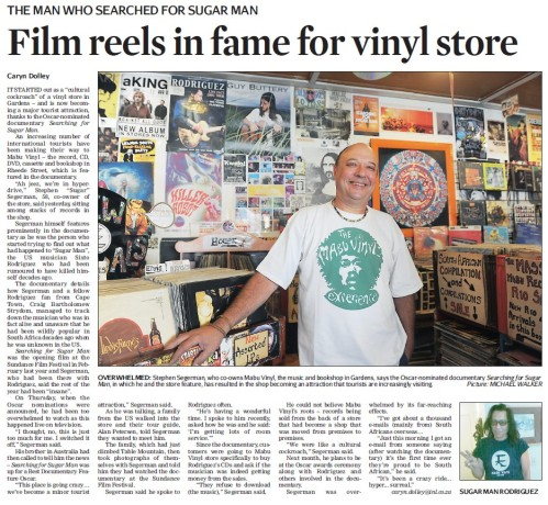 The Man Who Searched For Sugar Man | Cape Times, 14 January 2013