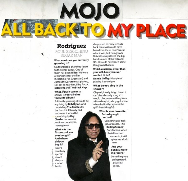 Mojo - Back To My Place Interview - March 2013