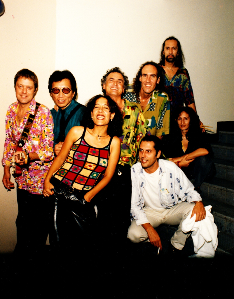 March 1998 (left-to-right): Willem Moller, Sixto Rodriguez, Tonia Selley, Steve Louw, Graeme Currie, Reuben Samuels, kneeling front: Russel Taylor
