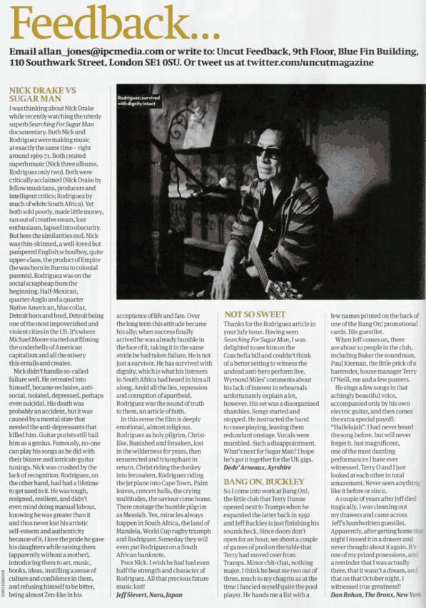 Nick Drake vs Sugar Man | Uncut August 2013
