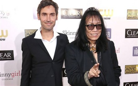 Fleeting fame: Malik Bendjelloul and Sixto Rodriguez at the Critics' Choice Movie Awards, Los Angeles in January 2013 Photo: Rex Features