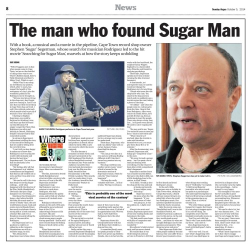 Sunday Argus Oct 5 2014