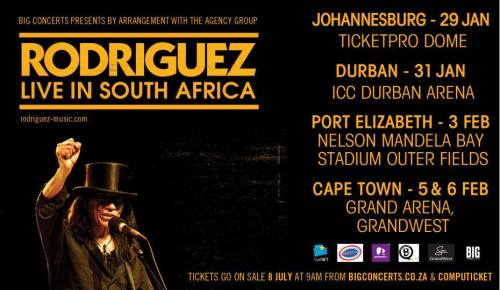 Rodriguez Live in South Africa - January, February 2016