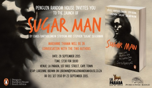 Penguin Random House Invites You To The Official Launch of Sugar Man