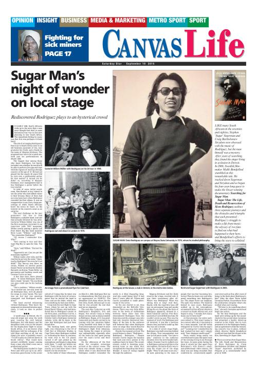 Sugar Man's Night Of Wonder On Local Stage