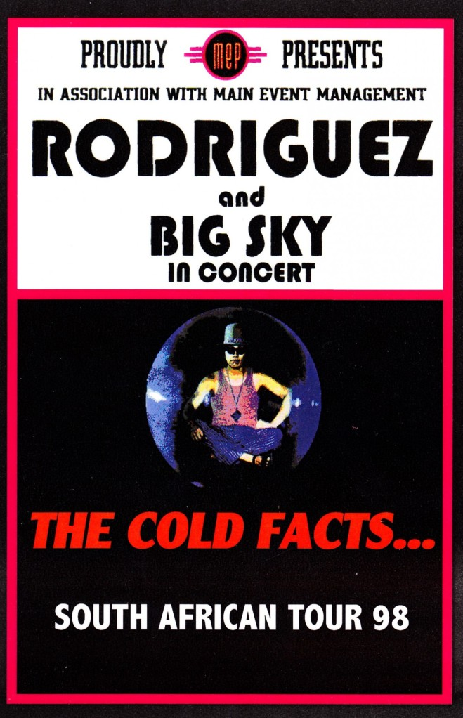 Poster: The Cold Facts... South African Tour 1998