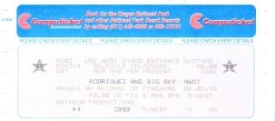 Ticket 6 March 1998