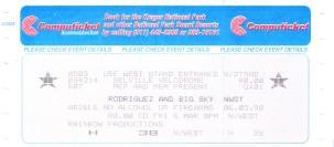 Ticket 6 March 1998