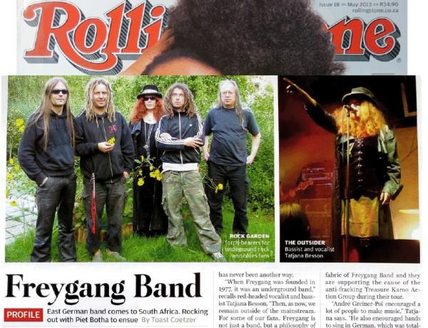 Black Sheep Rockonspiracy in Rolling Stone Magazine