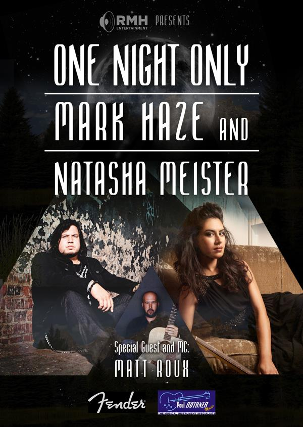 RMH presents: One Night Only with Mark Haze & Natasha Meister