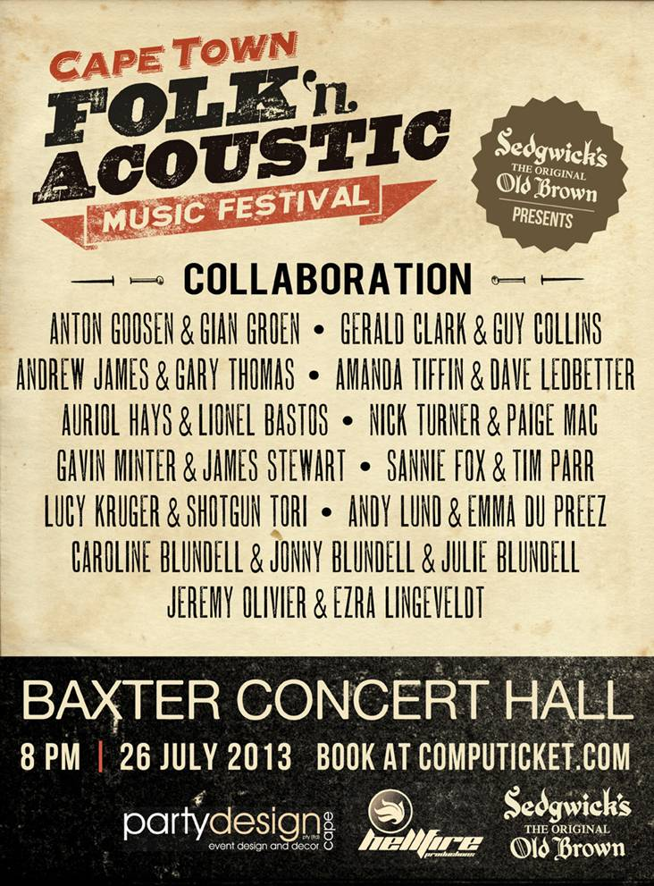 Cape Town Folk & Acoustic Music Festival 2013