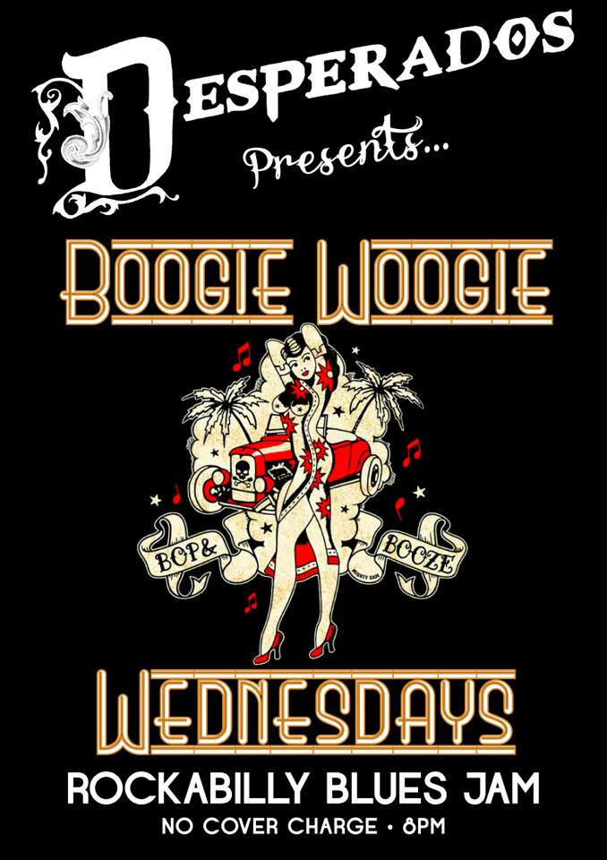 Rockabilly and Blues every Wednesday at Desperados Obz