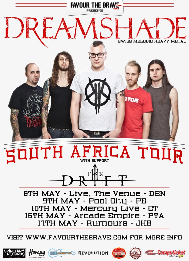 DREAMSHADE SOUTH AFRICAN TOUR